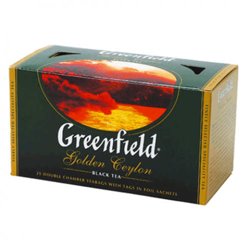 Чай черный Greenfield Golden Ceylon, 25 пакетиков х 2г