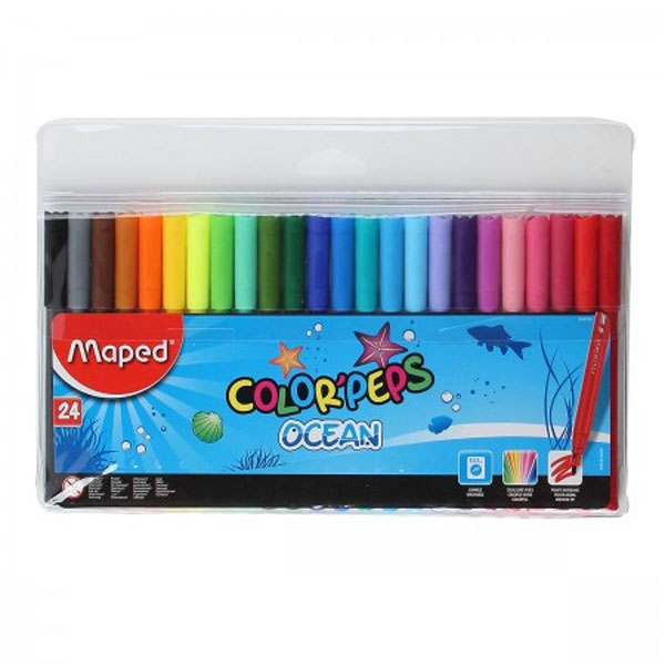 Фломастеры Maped Color Peps Ocean MP.845722, 24 цвета